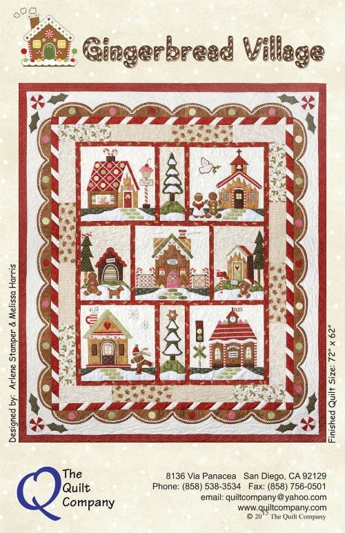 The Quilt Company Gingerbread Village 7 Pattern Pack THQGV100