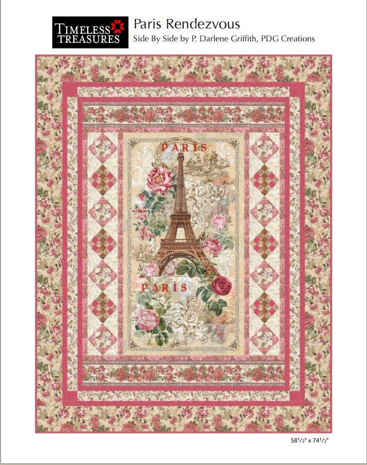 Paris Rendezvous Side-by-Side Pattern by PDG Creations