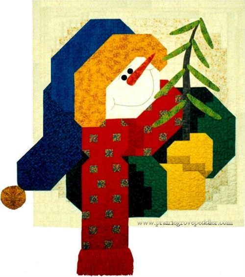 Happy Snowman Quilt Pattern PGP3334