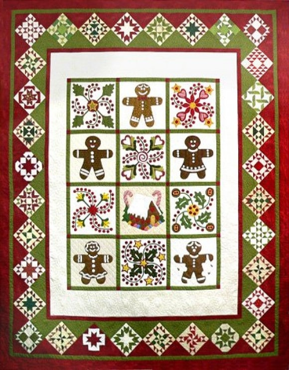 Quilted Gingerbread Pattern by Sue Garman