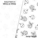 P&B Textiles Holiday Ramblings II RAH2 4219 W (White-on-white)