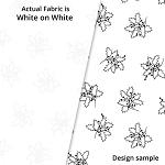 P&B Textiles Holiday Ramblings II RAH2 4228 W (White-on-white)