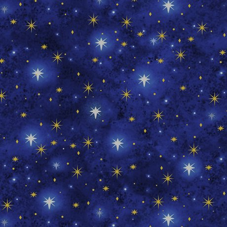 Quilting Treasures Northstar Blender metallic 23304-NY Navy.