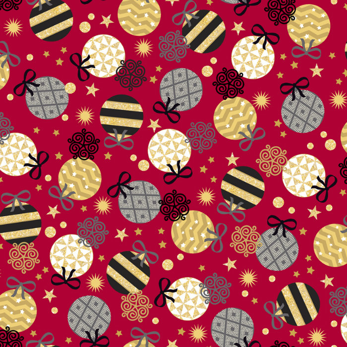 Quilting Treasures All That Glitters 24437-R Red