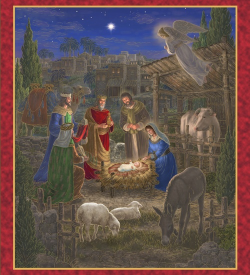 Quilting Treasures Holy Gathering Nativity 34