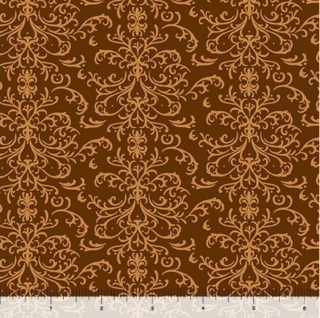 Quilting Treasures A Golden Holiday Filigree 25960-A Brown