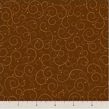 Quilting Treasures A Golden Holiday Scroll 25975-A Brown