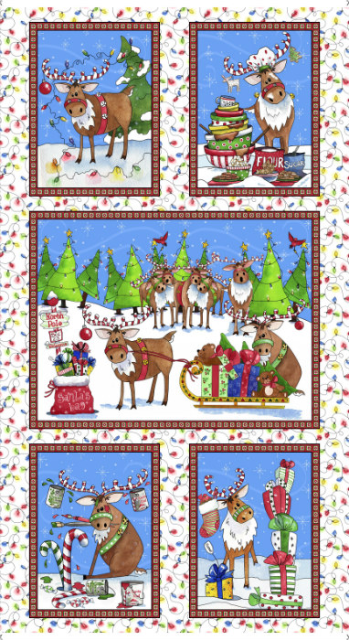 Quilting Treasures Reindeer Antics Panel 27215-X