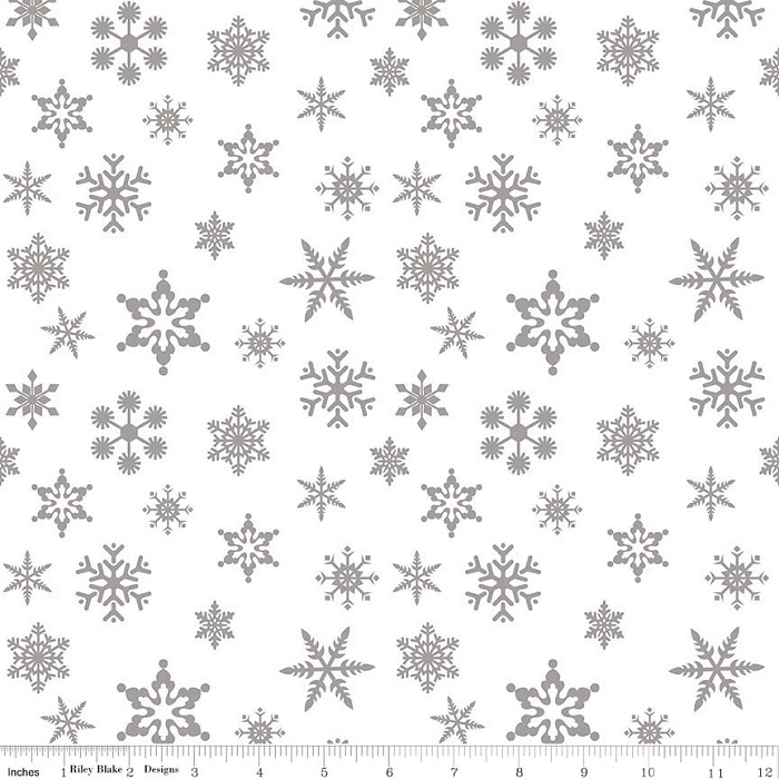 Riley Blake Sparkle Cotton Snowflake Sparkle SC566-Silver