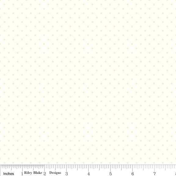 Riley Blake Swiss Dots C600-01 Cream