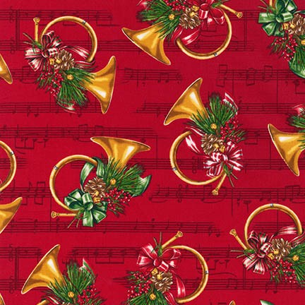 Robert Kaufman Holly Jolly Christmas 5 15806-3 Red