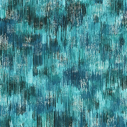 Robert Kaufman Fusions Brushwork Metallic SRKM-18059-213 TEAL