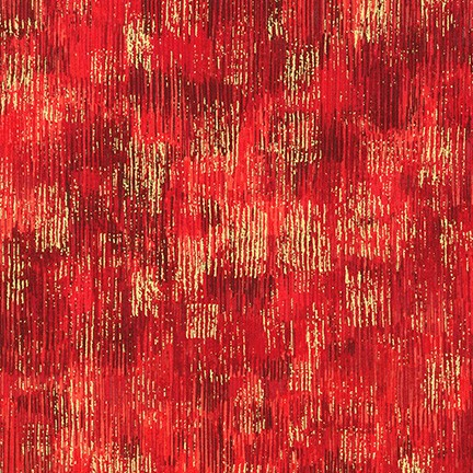 Robert Kaufman Fusions Brushwork Metallic SRKM-18059-3 RED