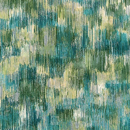 Robert Kaufman Fusions Brushwork Metallic SRKM-18059-372 BLUEGRASS
