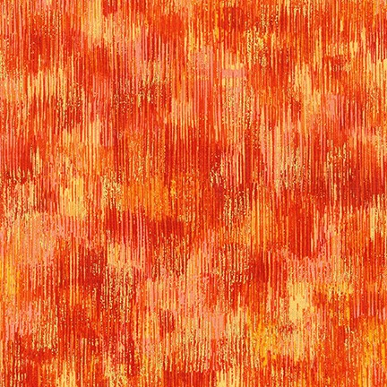 Robert Kaufman Fusions Brushwork Metallic SRKM-18059-8 ORANGE