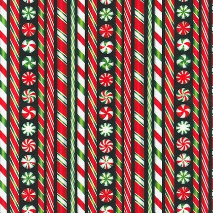 Robert Kaufman Holly Jolly Christmas 6 Digital 18573-2 Black