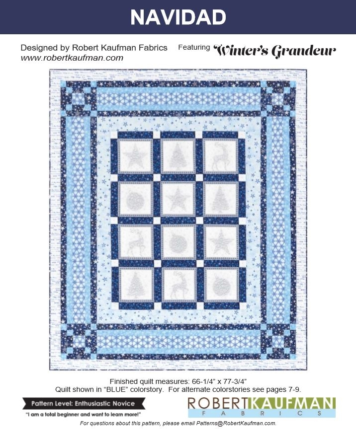 Robert Kaufman Winter's Grandeur 5 Free Quilt Project 1