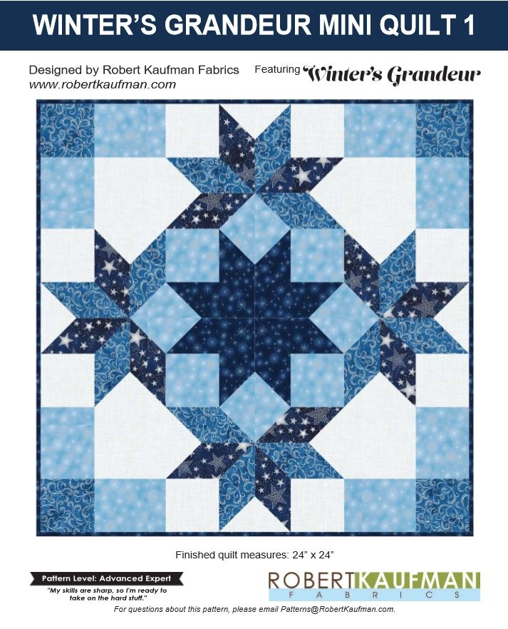 Robert Kaufman Winter's Grandeur 5 Free Quilt Project 2