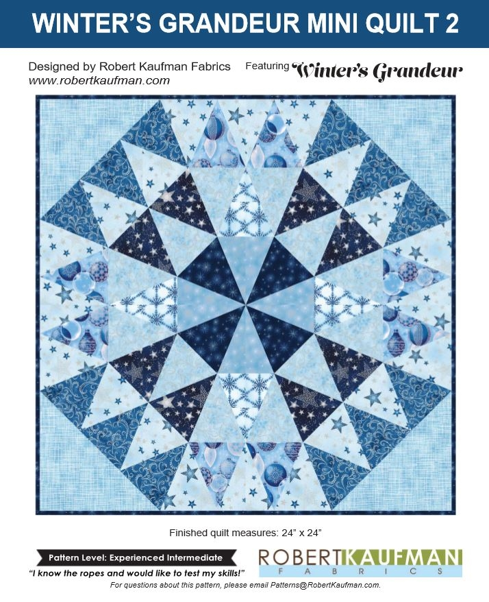 Robert Kaufman Winter's Grandeur 5 Free Quilt Project 3