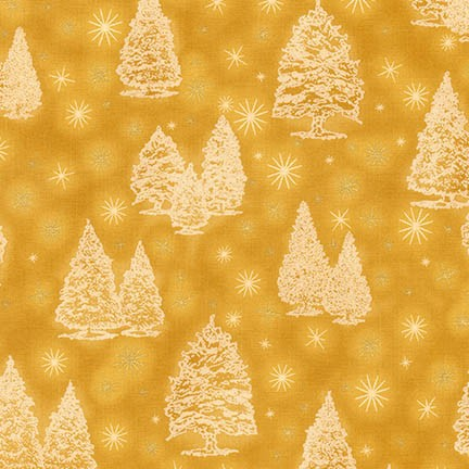 Robert Kaufman Winter's Grandeur 5 16581-133 Gold