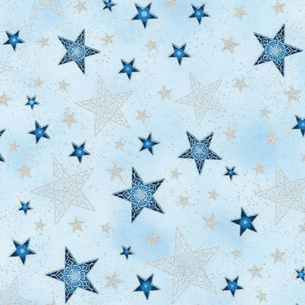 Robert Kaufman Winter's Grandeur 5 16584-254 Frost