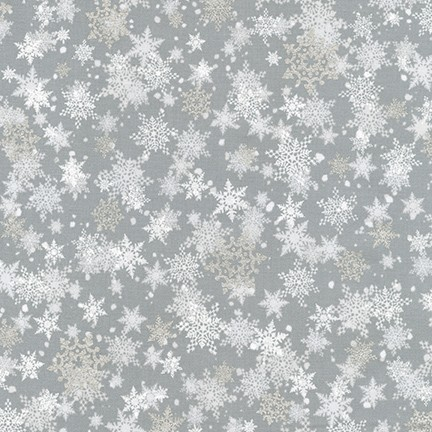Robert Kaufman Winter's Grandeur Metallic 8 AXBM-19331-186 Silver