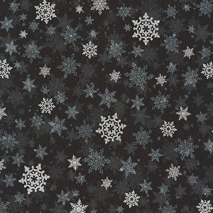 Robert Kaufman Winter's Grandeur Metallic 8 AXBM-19331-189 Ebony
