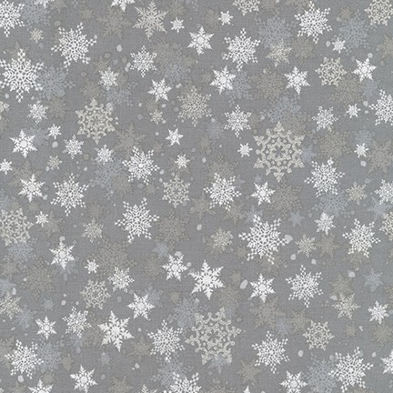 Robert Kaufman Winter's Grandeur Metallic 8 AXBM-19331-277 Winter