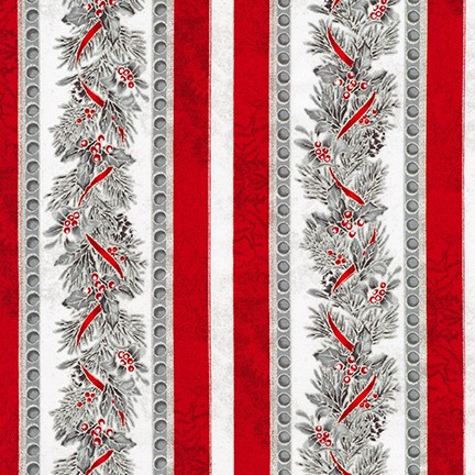 Robert Kaufman Winter's Grandeur Metallic 8 AXBM-19336-186 Silver