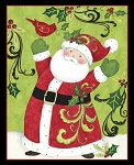 Springs Creative Santa Claus Swirl Panel 64460-A620715