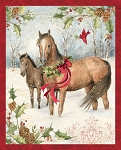 Springs Creative Christmas Horse Panel 64468-A620715