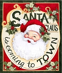 Springs Creative Retro Santa Panel 66693-A62715