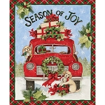 Springs Creative Season of Joy Red Truck Panel 69113-A20715