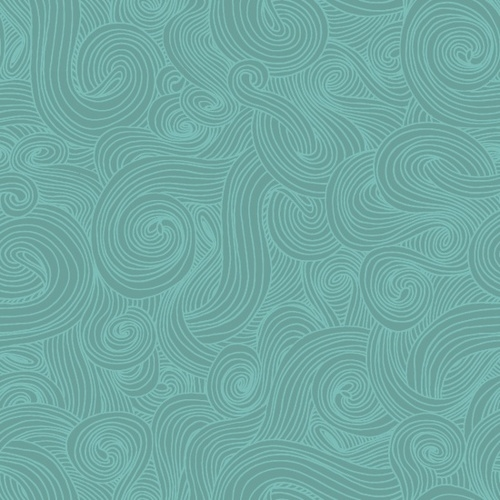 Studio E Just Color Swirl 1351-Aqua