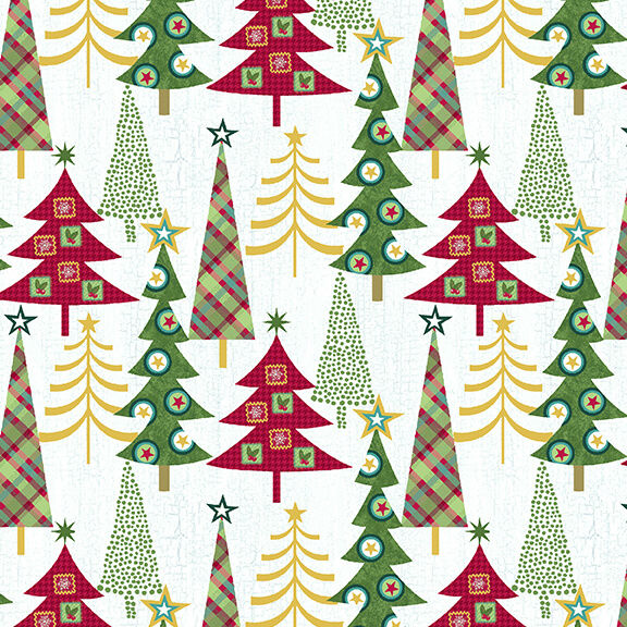 Studio E Holly Jolly Christmas 4752-16 White