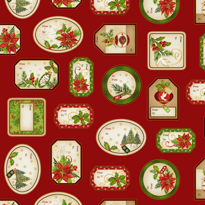 Studio E Christmas Village 4255M-88 Christmas Labels with Metallic