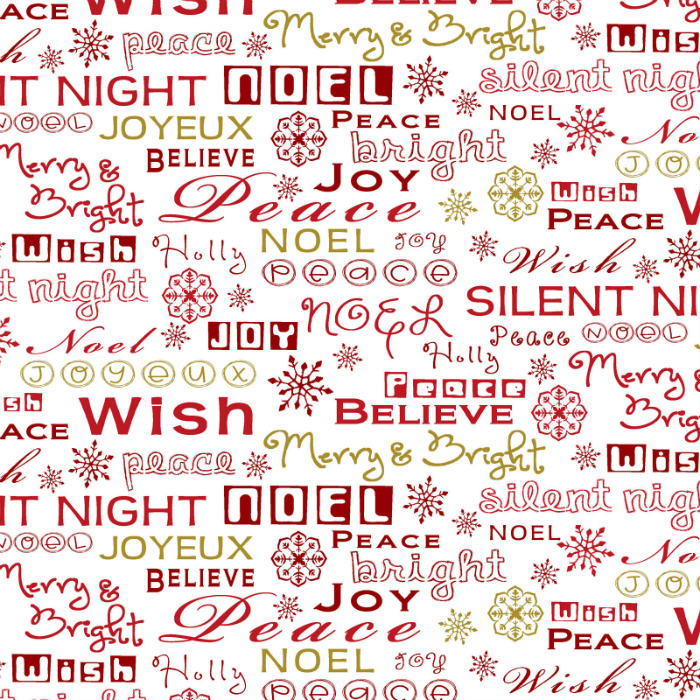 Studio E Christmas Village 4256M-11 Metallic Seasonal Words