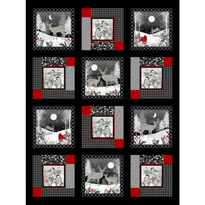 Studio E Midwinter Song 5133P-95 Black/Red 36