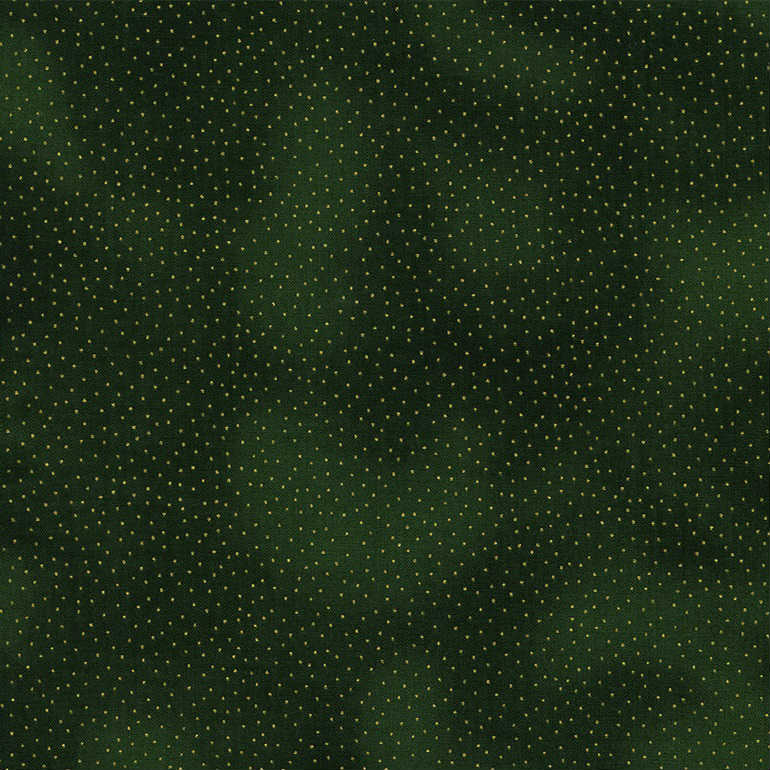 Timeless Treasures Christmas Morning Metallic Dots CM9528 Green