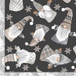 Timeless Treasures Gnomes and Holidays Gail-C8207 BLACK