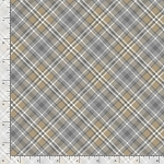 Timeless Treasures Gnomes and Holidays PLAID-C7560 GREY