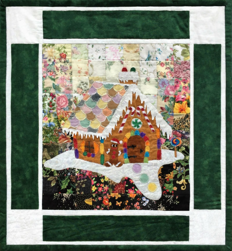Whims Watercolor Quilt Kits Gingerbread House