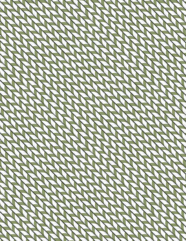 Wilmington Prints Hot Cocoa Bar Peppermint Stripe Green 3017-27601-917