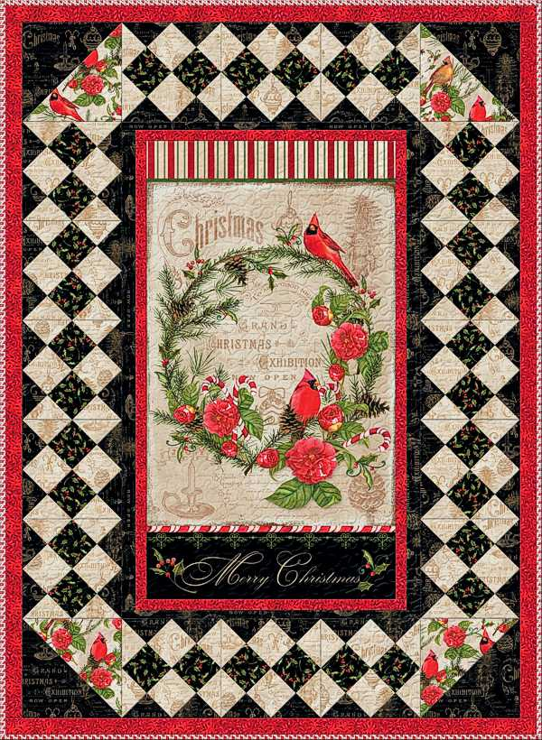 Wilmington Prints Christmas in the Wildwood - Wall Quilt Kit