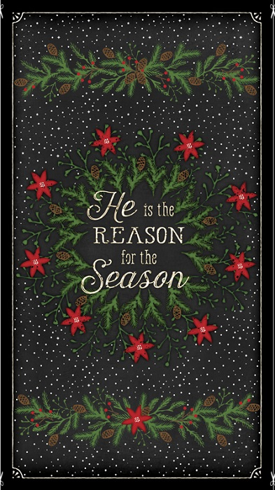 Wilmington Prints Reason for the Season Panel 82478-917