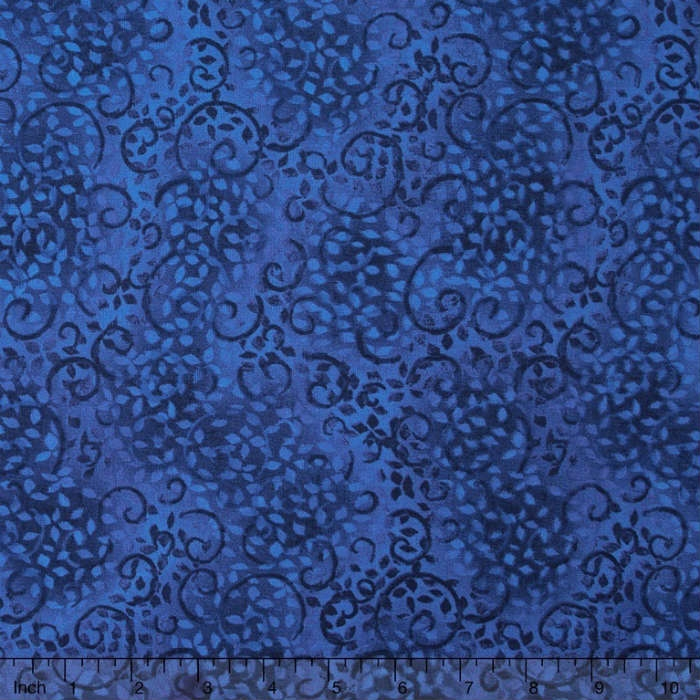 Wilmington Prints Essentials Leafy Scroll Royal Navy 26035-446