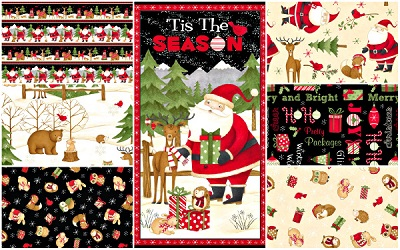 New Fabric Collection - Santa and Friends