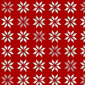 Henry Glass Holly Hill Christmas Lemoyne Star 2479-88 Red