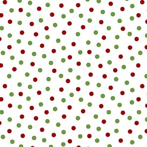 Henry Glass Holly Hill Christmas Dots 2485-16 White/Green