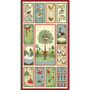 "Andover Twelve Days of Christmas TP-2104-1 24"" Panel"
